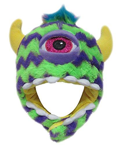 Monster Mütze Plüsch Kinder Erwachsene Karneval Halloween Wintermütze Jungen Mädchen Kindermütze 8953