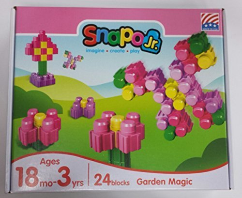 Snapo Jr. Garden Magic 24 Piece Block Set