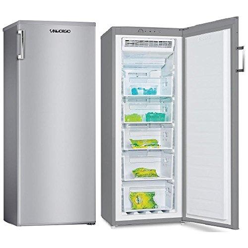 Congelatore Verticale No Frost Capacità 200 Litri Classe A+ Colore Inox
