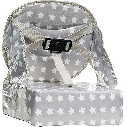 Baby-To-Love Easy Up, Chaise Haute Pour Bébé, Rehausseur Chaise Enfant, Rehausseur Nomade Bébé ( White Stars)