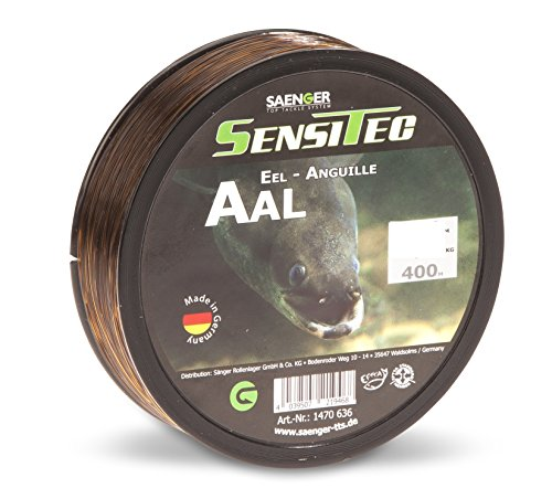 SENSITEC AAL - Farbe: dunkelbraun - Ø 0,30mm/8,30kg/400m NEW 2018 Angelschnur monofil Sänger