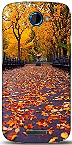 Snoogg New York Autumn Park Designer Protective Back Case Cover For HTC One S