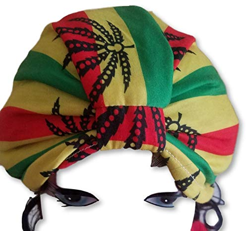 Jamaican Stretchy Rasta Turban Hut #4 für Chemo Bandana Kopfwickel Jihab Krebs Hut (Hüte Jamaican)