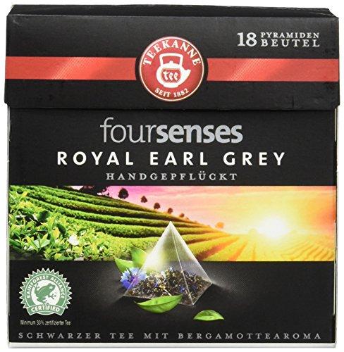 Teekanne foursenses Royal Earl grey Pyramidenbeutel, 5er Pack (5 x 32 g)