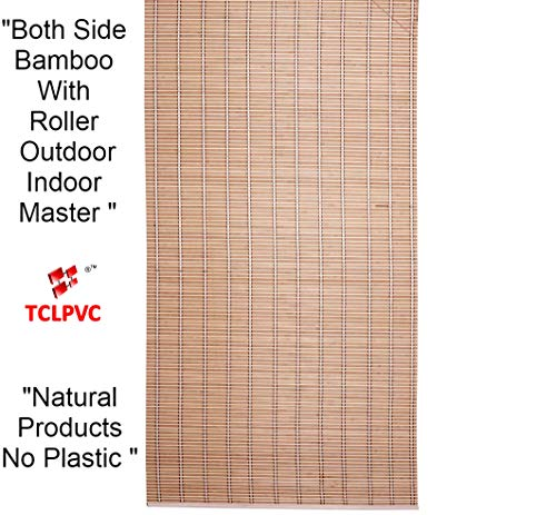 TcLpvc Only Wood Natural 5/7 ft Special Bamboo With Wooden Roller For All India Choice - Blind Wooden Curtains For Balcony - Windows - Indoors - Door - Home - Office - Hotel - Resorts - Blinds - Shades - Screens - Patio Umbrellas - Canopies - Shade - Sunscreen Fabric - Screens - Protection - Balcony Privacy - Protective Screens - Window Blind Curtain PRODUCT CODE - 1213