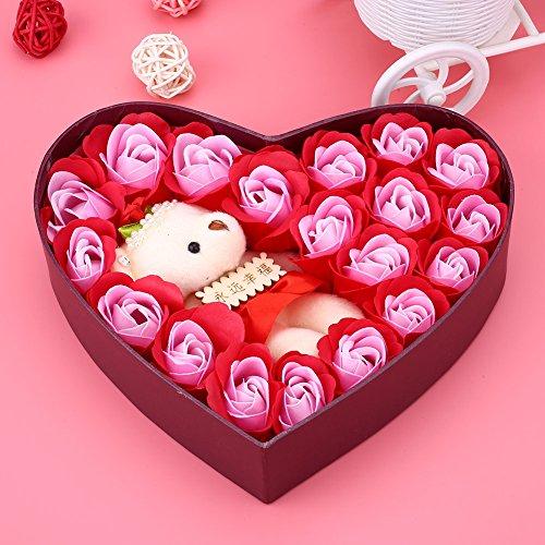 Kicode TOPmountain romantical Eleganter Rose Seifen-Blumen Partei-Bevorzugungen Valentinstag Supplies Geschenk