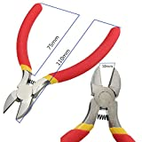Generic 5Inch Diagonal Cutting Pliers Nippers Precision Pliers Mini Wire Cable Cutters Tool