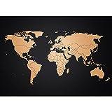 Poster Weltkarte von Awesome Maps | Wandbild im Luxus Kupferdesign | Premium Landkarte 70x50cm | Keine Karte zum Rubbeln