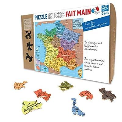 Puzzle 100 pièces Carte DE France DEPARTEMENT