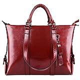 S-ZONE Frauen 3-Weg-Tragen Echtes Leder Tasche Handtasche Schultertasche
