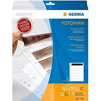 Herma 7761 Lot de 25 Pochettes perfor/ées Transparent