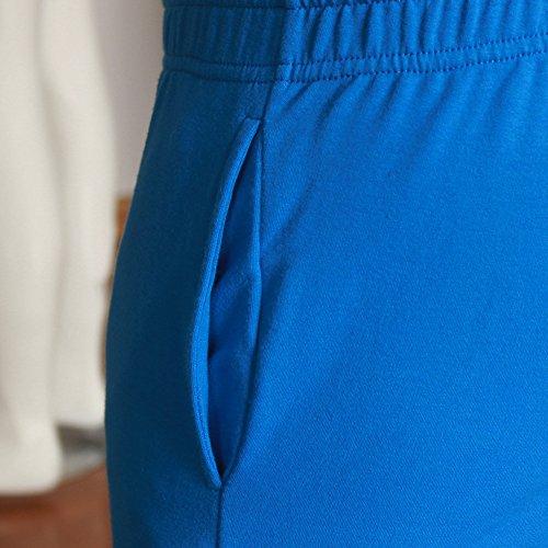 Musclealive Herren Fitnessstudio Bodybuilding Trainieren Kurze Hose Baumwolle Men Shorts Style B Sky Blue, 3 inseam Thick Fabric With Pockets