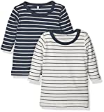 NAME IT Unisex Baby NITSALK 2P LS TOP MZNB Pullover, Mehrfarbig (Dress Pack:Dress Blues + Snow White), 56 (2erPack)