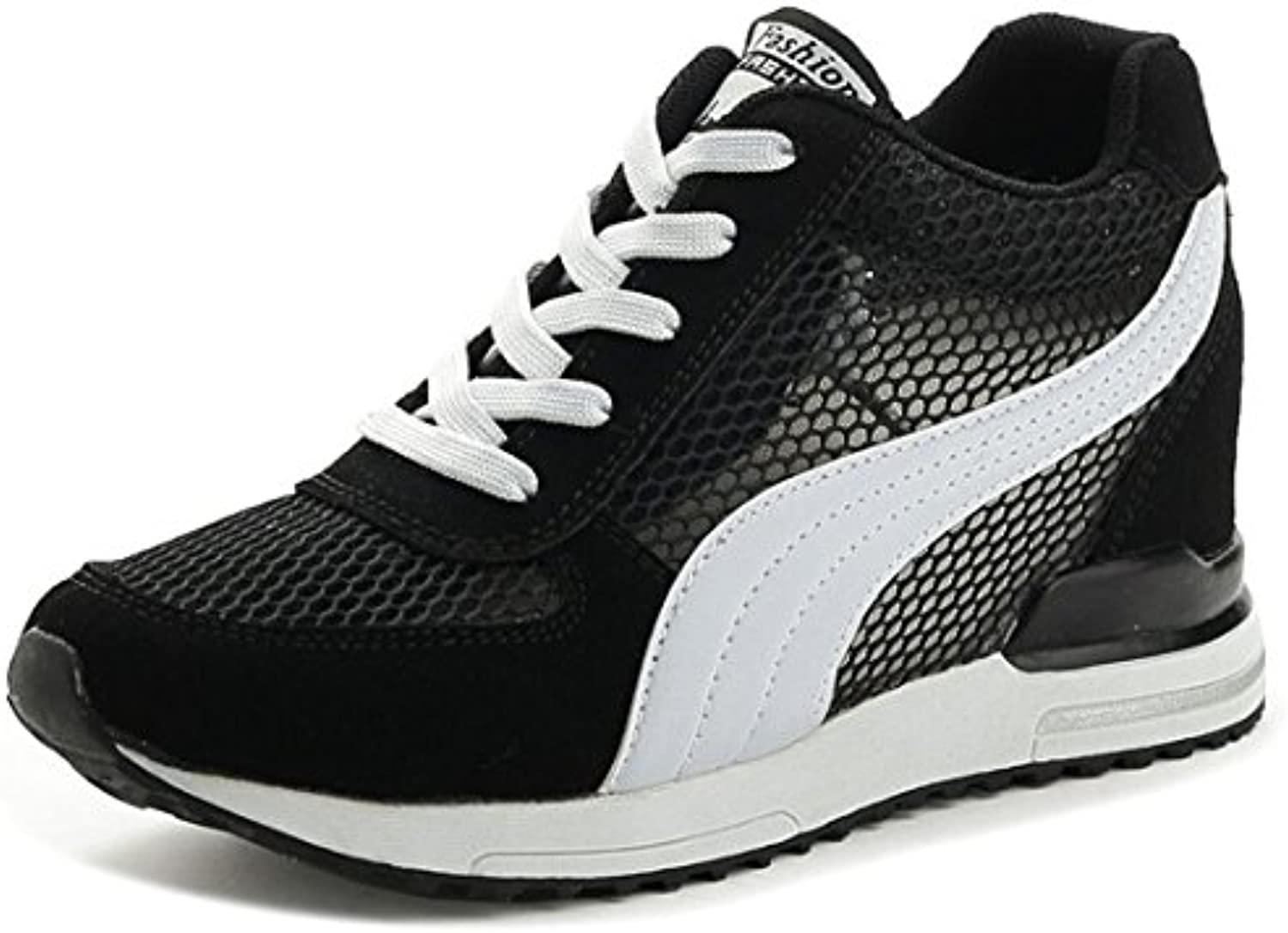 DANDANJIE Zapatos de Mujer Summer New Breathable Mesh Casual Sports Shoes Antideslizante Heightening Zapatos al...
