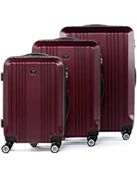 FERGÉ Juego de 3 Maletas rigidas de Viaje candado TSA Cannes Equipaje de Trolley Dura Spinner con 4 Ruedas giratorias (360)