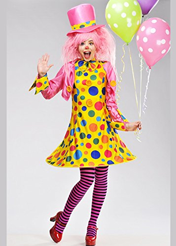 Womens niedlich fleckig Clown Kostüm XL (UK (Kostüme Fancy Ladies Dress Niedliche)
