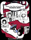 Modern Fairy Tales and Superheroes Coloring Book: Creepy cute drawings for adults and children