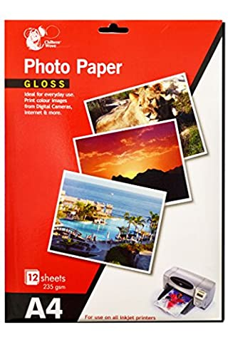 24 Sheets Gloss Photo paper A4/ 2 Packs Of