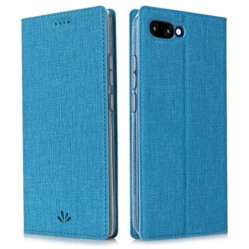 Feitenn Huawei Honor 10 Hülle, dünne Premium PU Leder Flip Handy Schutzhülle | TPU-Stoßstange, Magnetverschluss, Kartenschlitz, Kameraschutz- und Standfunktion Brieftasche (Blau)