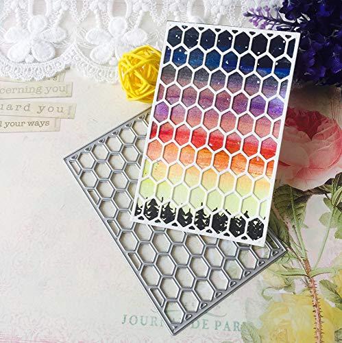 tanzschablone prägemaschine Prägeschablonen Stanzformen Schablonen Zubehör für Hochzeits Einladung Grußkarte Verpackung Dekoration (E Bienenwabe) ()