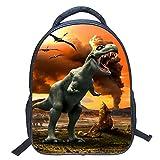 Eleoption Kindergartenrucksack Wasserdicht Rucksäcke 3D Dinosaurier Pattern Kinder Schultasche Kindergartentasche (Stil ZZ8)