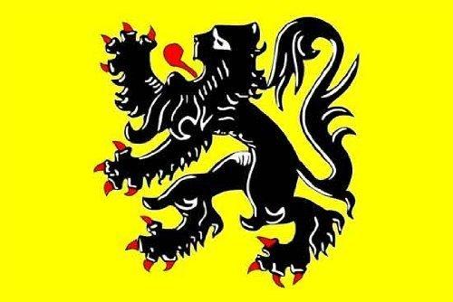 Belgique Flandre-Vlaamse Leeuw flamand Lion - 150 cm x 90 cm