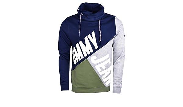 3d05bdbc5b727d Tommy Jeans TJM Colorblock Funnel Hoodie Herren - S: Amazon.de: Bekleidung