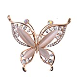 Mcitymall77 Elegent Butterfly Crystal Brooch Pin for Women