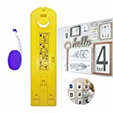 Picture Hanging Tool Frame Hanging Set Picture Hanger Suspension Measurement Position Marking Kit with Vertical & Horizontal Levels, Easy and Quick for Hanging Pictures and Décors (A1)