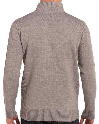 BLZ jeans - Pull gris cotelé col montant Gris