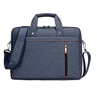 Luxury Waterproof Nylon Durable Laptop Computer Messenger Bag Case with Convex Buffer Pad (Blue, 17.3
