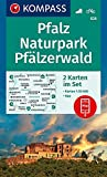 KOMPASS Wanderkarte Pfalz, Naturpark Pfälzerwald: 2 Wanderkarten 1:50000 im Set inklusive Karte zur offline Verwendung in der KOMPASS-App. Fahrradfahren. (KOMPASS-Wanderkarten, Band 826)