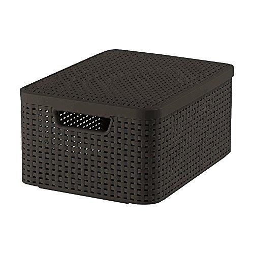 03618-210-00 Aufbewahrungsbox Style mit Deckel M, 18 L, dunkelbraun