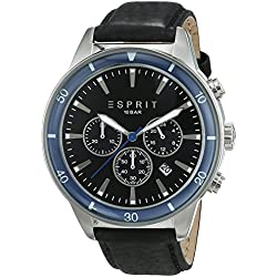 Esprit Men's Watch Waterwheel Chronograph Quartz with black Leather strap ES106901002