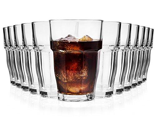 Bormioli Cocktailglas Set 'Rock Bar' 12 teilig | Füllmenge 480 ml | Gesamthöhe 13 cm | Perfektes Universalglas für den täglichen Gebrauch