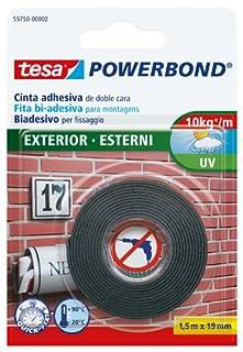 Cinta de doble cara para exteriores tesa Powerbond (1,5 m x 19 mm), negro (B005658J70) | Amazon Products