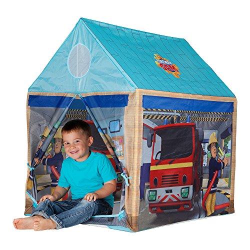 feuerwehrzelt John 78203 - Feuerwehrhaus Sam - Spielzelt, Feuerwehrzelt, Kinderzelt, Spielhaus mit gedrucktem Motiv für Kinder