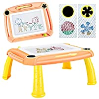 TTMOW Magnetic Drawing Board Doodle Pad with Stamps and Pen for Toddlers