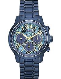 Guess W0330L17 - Reloj de pulsera mujer, Acero inoxidable, color Azul