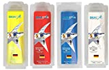 SKINSTAR Hydrocarbon Racing Skiwax Profi-Wachs Mix Yellow-Red-Blue-White