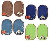 Unbekannt 8 TLG. Set ovaler Flicken / Bügelbild - Auto Fahrzeuge - 8 cm * 11,5 cm - oval - Bügelbilder - Aufnäher zum Aufnähen und Bügeln / Applikation für Jungen Kinde..