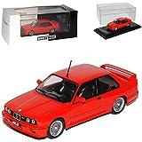 alles-meine.de GmbH BMW 3er E30 M3 Coupe Sport Evolution Rot 1982-1994 1/43 Whitebox Modell Auto