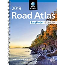 Rand Mcnally 2019 Road Atlas Easy Finder United States, Canada, Mexico