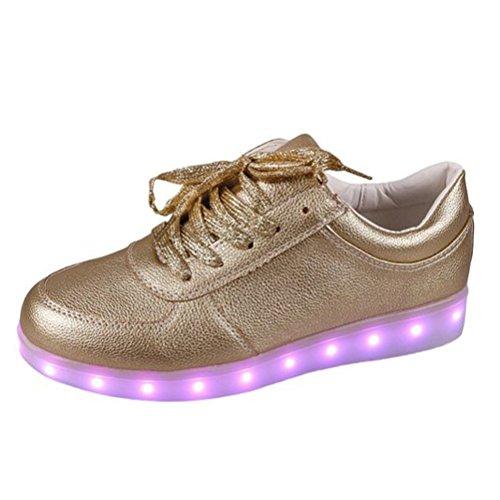 [Présents:petite serviette]JUNGLEST® - 7 Couleur Mode Unisexe Homme Femme Fille USB Charge LED Chaussures Lumière Lumineux Clignotants Chaussures de marche Haut-Dessus LED Ch c5