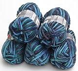 5x 50g Filzwolle Set color 154 – Pacific, Wolle zum Stricken und Filzen in der Waschmaschine, ausreichend für 1 Paar Schuhe bis ca. Gr. 42