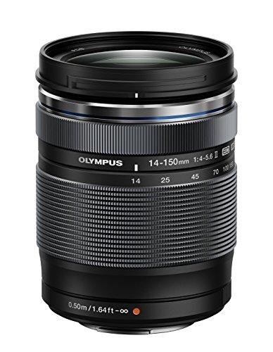 Olympus Zuiko - Objetivo para cámara réflex para Micro Cuatro Tercios (distancia focal 14-150mm, apertura f/4, zoom óptico 10.7x, diámetro filtro: 58mm) negro