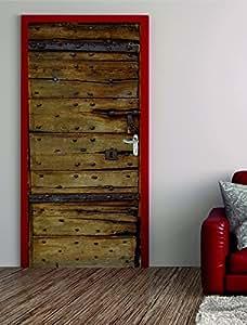 t rposter alte holzt r 100x200cm t rfolie t rtapete selbstklebend nr 21 baumarkt. Black Bedroom Furniture Sets. Home Design Ideas