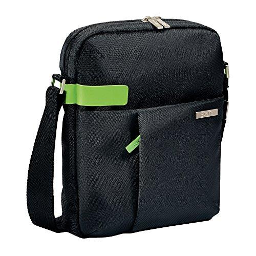 Leitz, Leichte Business Umhängetasche für 10 Zoll Tablet, Smart Traveller, Polyester und Metall, Complete, Schwarz, 60380095