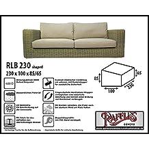 Raffles Covers rlb230s haped Funda Impermeable para Banco de ratán sintético, o sofá para jardín