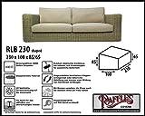 RLB230shaped Wetterschutz für Rattan Lounge Bank, Gartensofa oder Lounge Sofa, 3 Sitzer, passt am besten am Sofa von max. 225 x 95 cm. Schutzhüllen für Bank, Schutzhülle für Lounge Bänke, Abdeckhaube Schutzhülle Schutz-Plane für gartenbank gartensofa